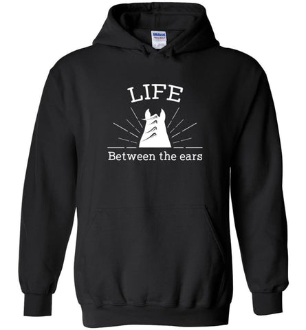 Life Between The Ears Horse Lovers Vintage - Hoodie - Black / M - Hoodie