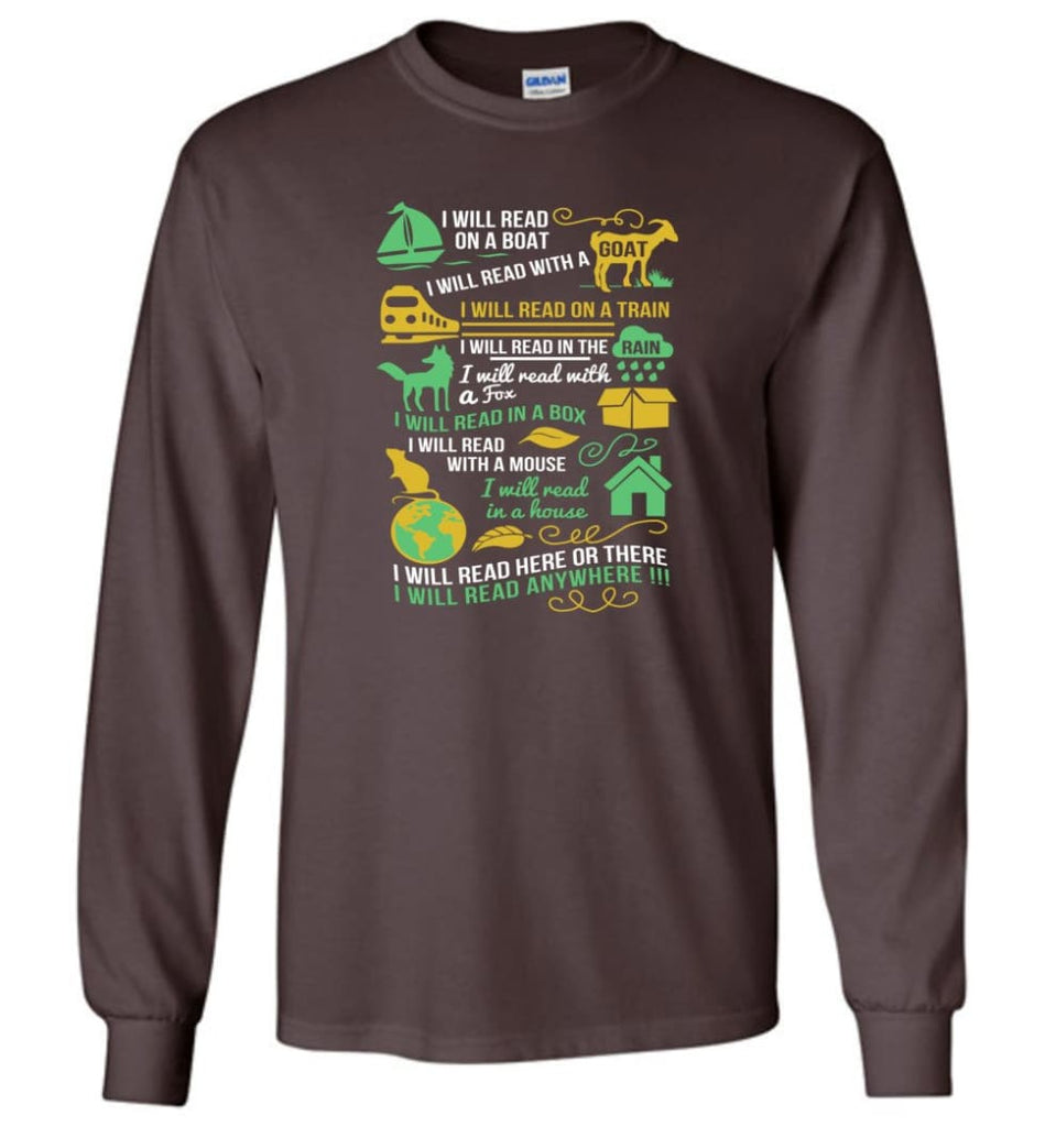 Life Is Good Book Lovers Shirt I Love Reading T Shirt The Book Was Better Shirt - Long Sleeve T-Shirt - Dark Chocolate /