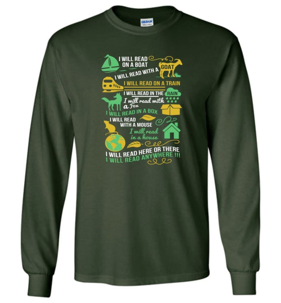 Life Is Good Book Lovers Shirt I Love Reading T Shirt The Book Was Better Shirt - Long Sleeve T-Shirt - Forest Green / M