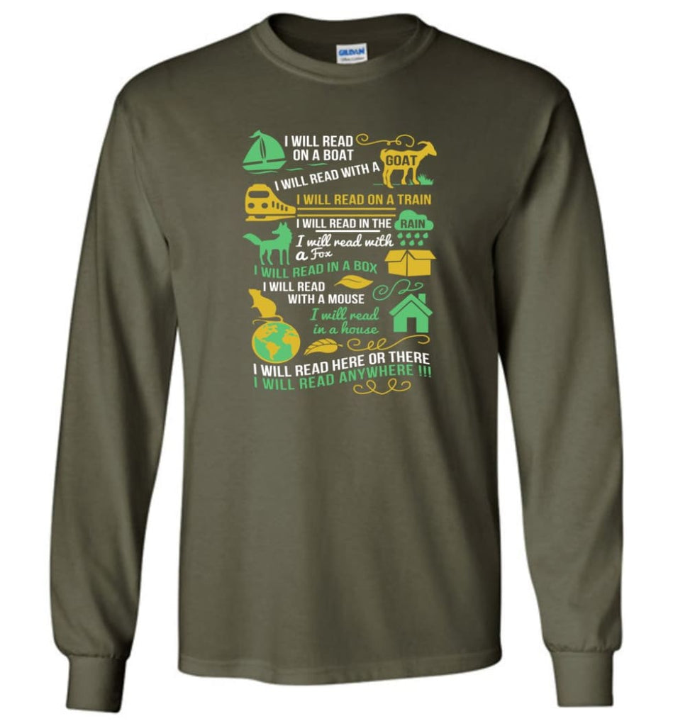 Life Is Good Book Lovers Shirt I Love Reading T Shirt The Book Was Better Shirt - Long Sleeve T-Shirt - Military Green /