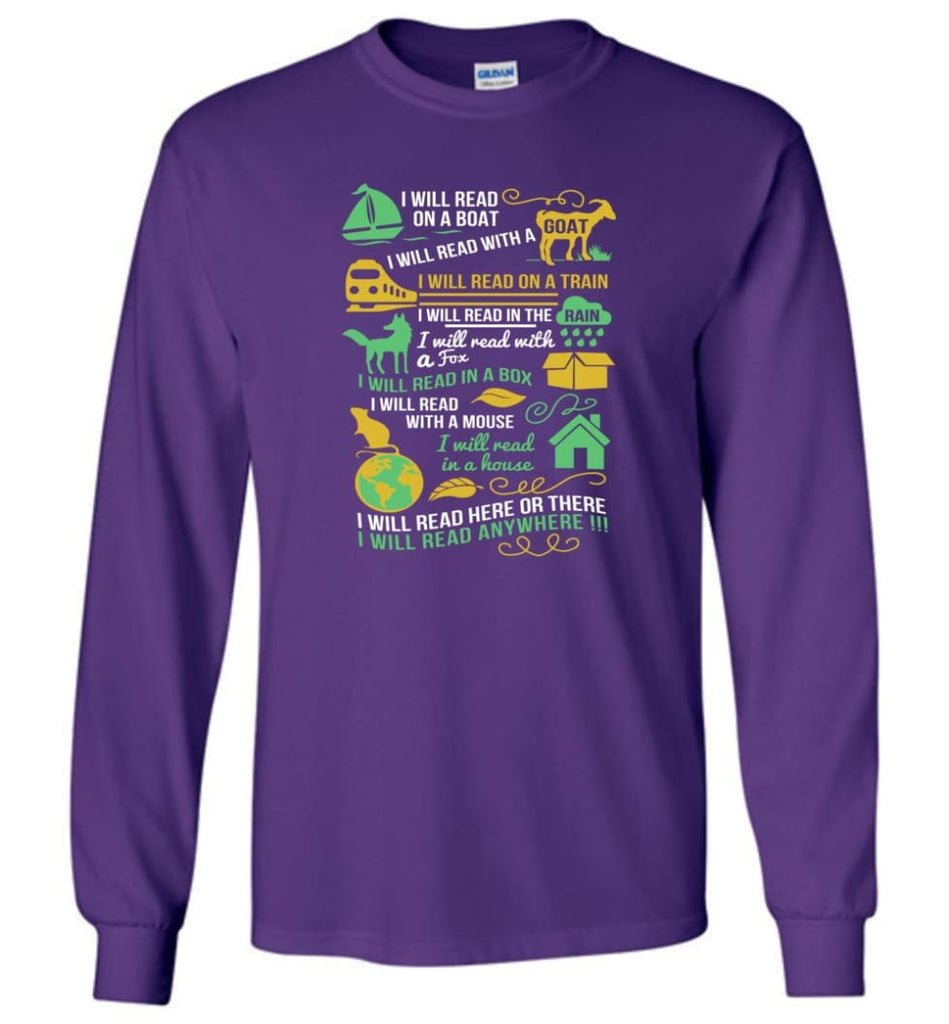 Life Is Good Book Lovers Shirt I Love Reading T Shirt The Book Was Better Shirt - Long Sleeve T-Shirt - Purple / M