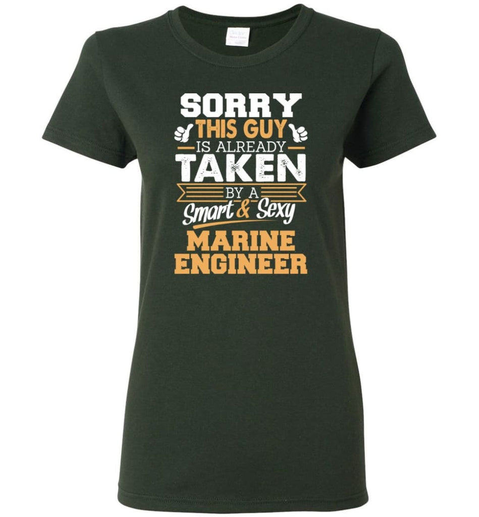 Marine Engineer Shirt Cool Gift for Boyfriend Husband or Lover Women Tee - Forest Green / M - 7