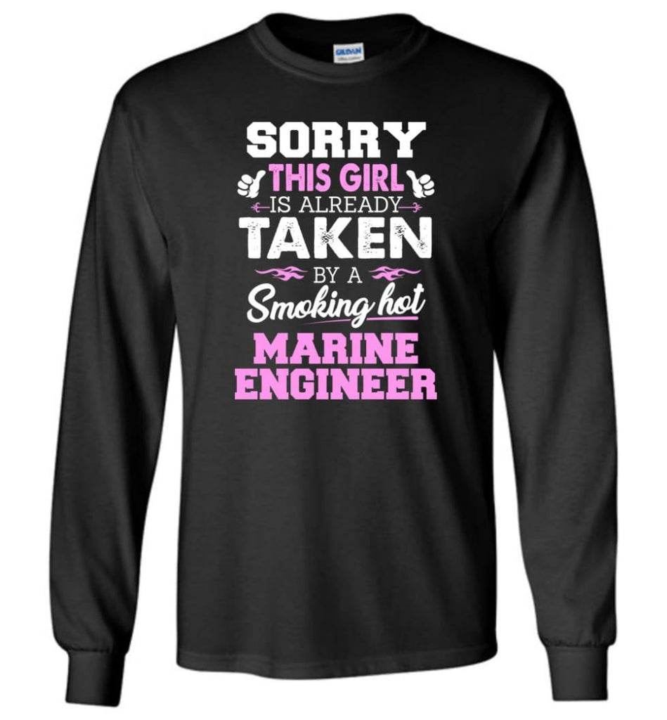 Marine Engineer Shirt Cool Gift for Girlfriend Wife or Lover - Long Sleeve T-Shirt - Black / M