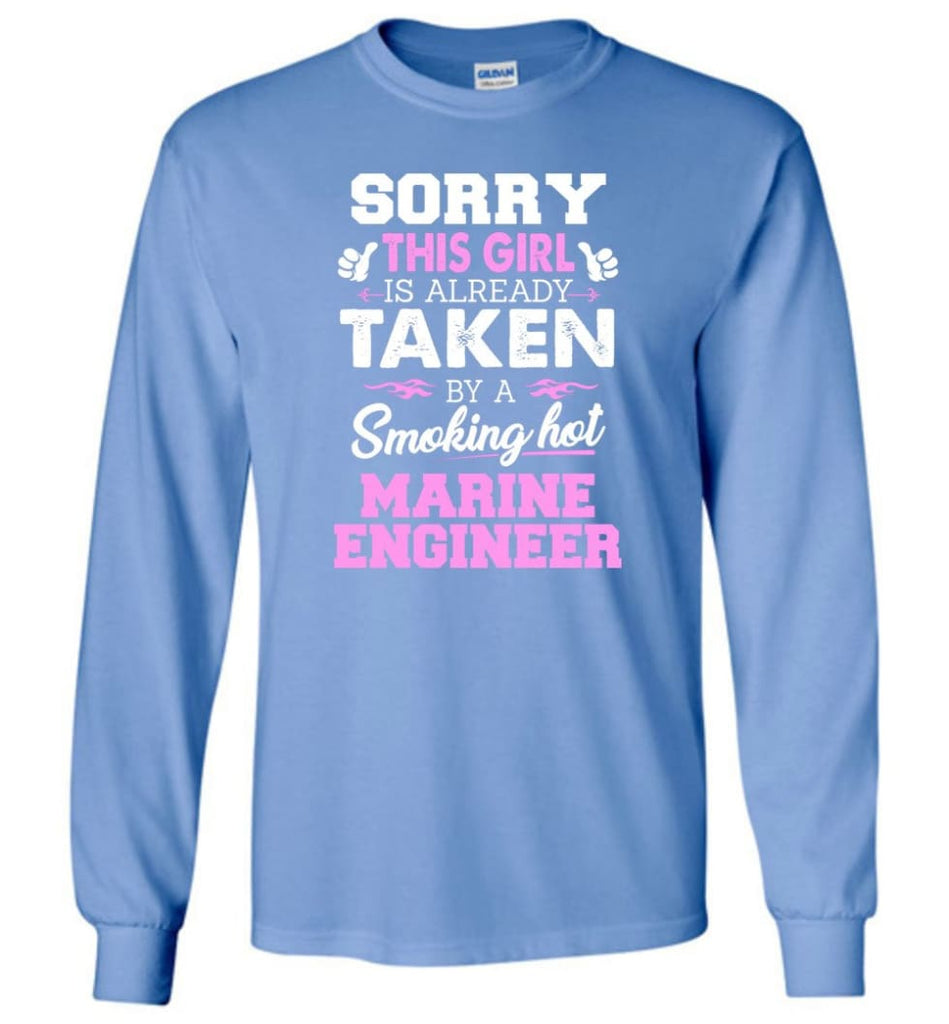 Marine Engineer Shirt Cool Gift for Girlfriend Wife or Lover - Long Sleeve T-Shirt - Carolina Blue / M