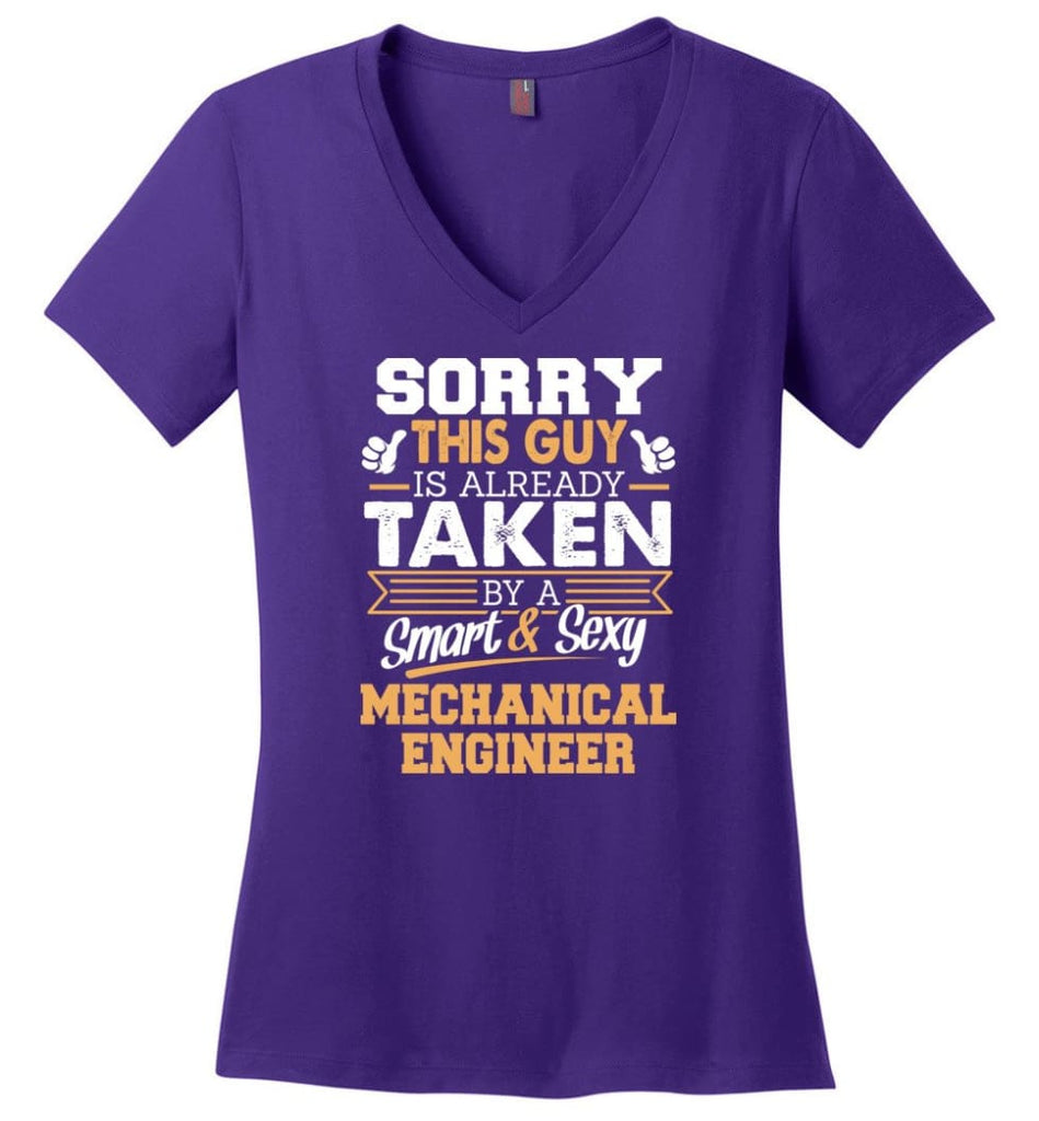 Math Teacher Shirt Cool Gift for Boyfriend Husband or Lover Ladies V-Neck - Purple / M - 5