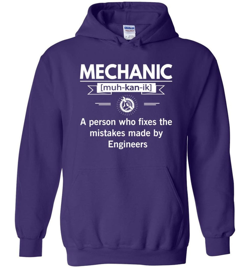Mechanic Definition Funny Mechanic Meaning Hoodie - Purple / M