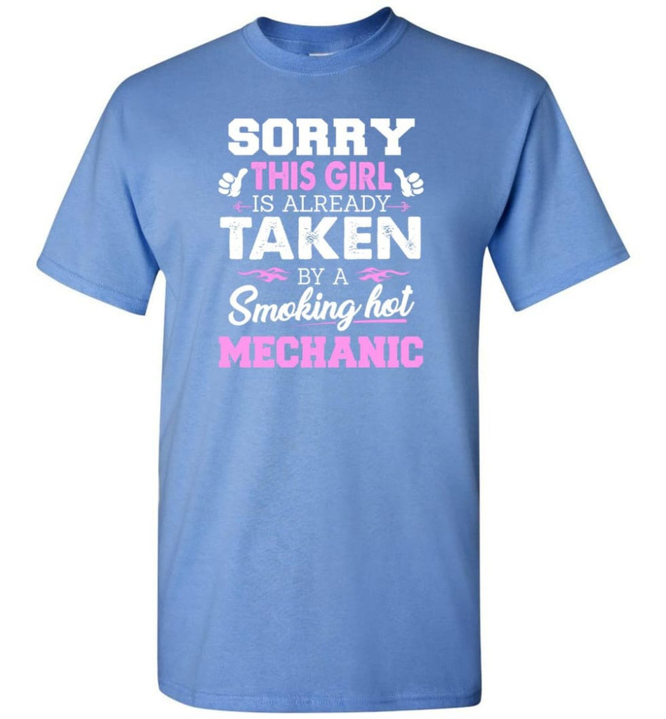 Mechanic Shirt Cool Gift for Girlfriend Wife or Lover - Short Sleeve T-Shirt - Carolina Blue / S
