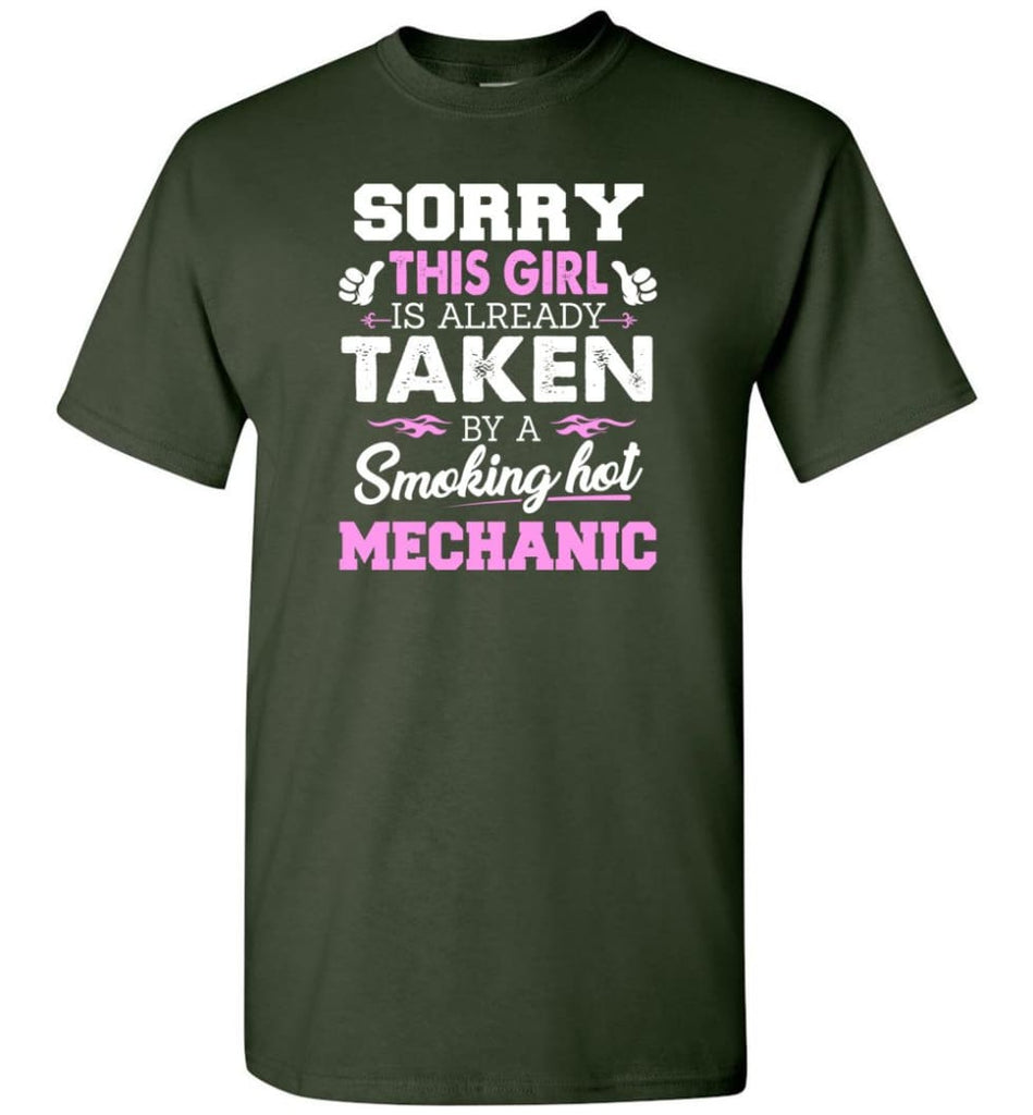 Mechanic Shirt Cool Gift for Girlfriend Wife or Lover - Short Sleeve T-Shirt - Forest Green / S