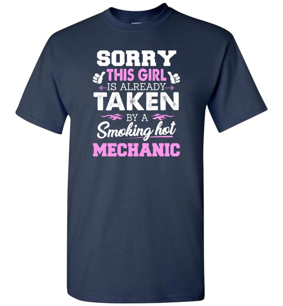 Mechanic Shirt Cool Gift for Girlfriend Wife or Lover - Short Sleeve T-Shirt - Navy / S