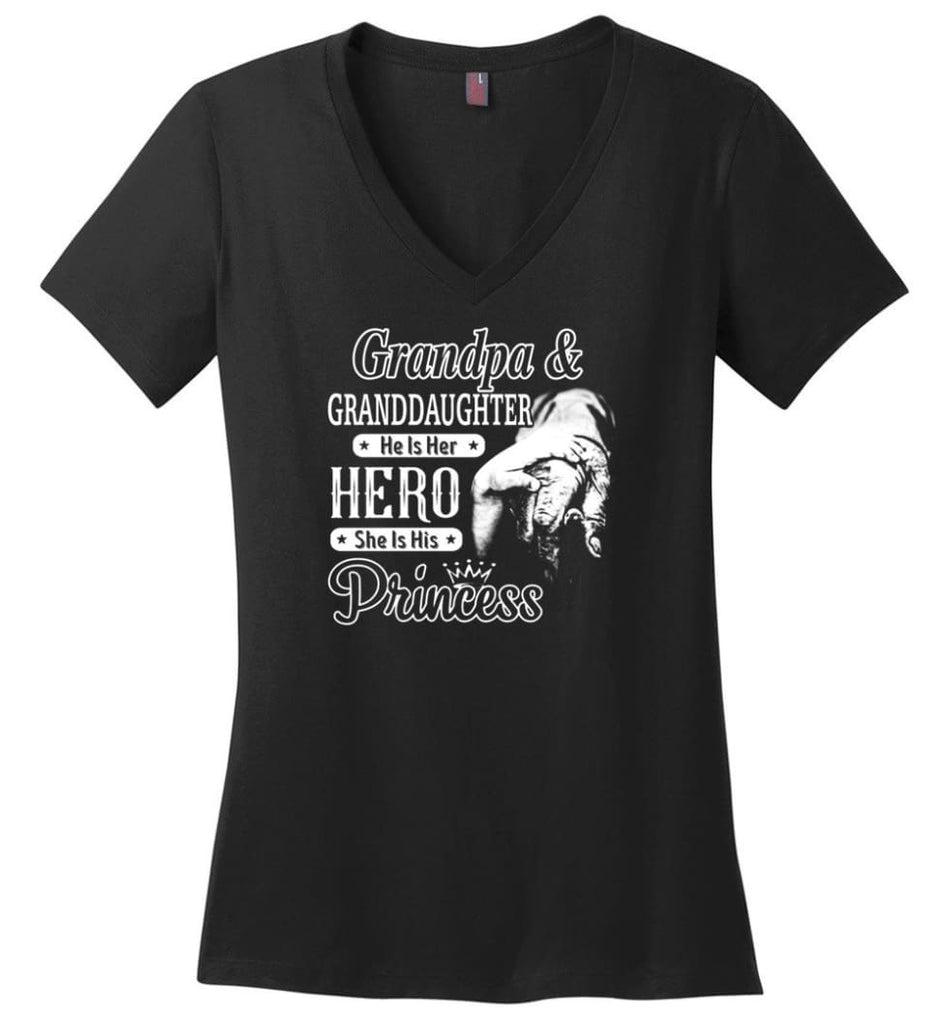 Mechanic Shirt I Love Paw Paw Best Gift For Father's Day Ladies V-Neck - Black / M
