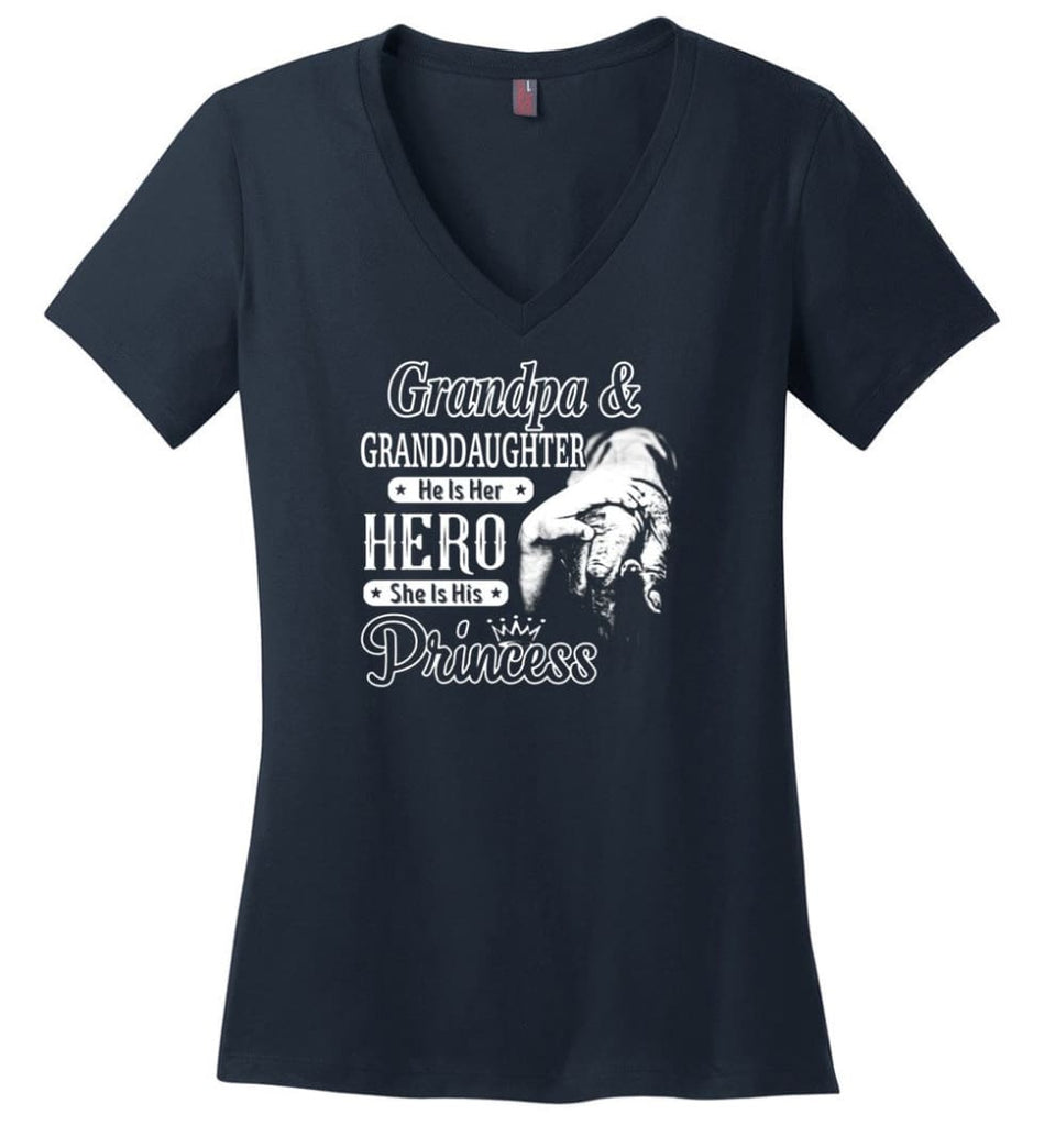 Mechanic Shirt I Love Paw Paw Best Gift For Father's Day Ladies V-Neck - Navy / M