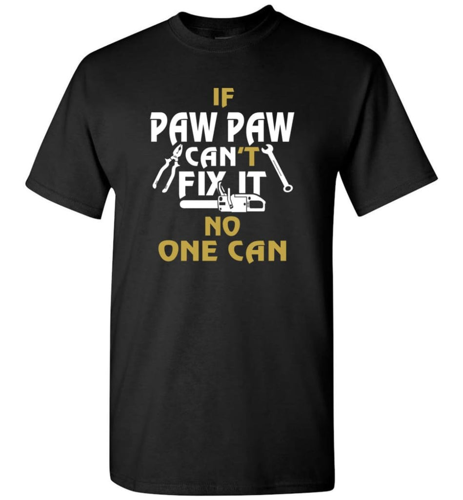 Mechanic Shirt I Love Paw Paw Best Gift For Father's Day - Short Sleeve T-Shirt - Black / S
