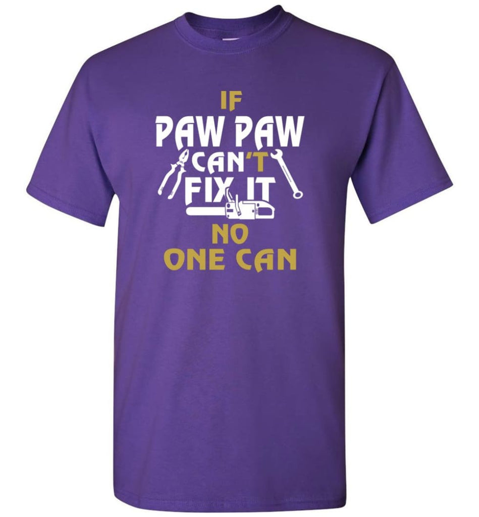 Mechanic Shirt I Love Paw Paw Best Gift For Father's Day - Short Sleeve T-Shirt - Purple / S