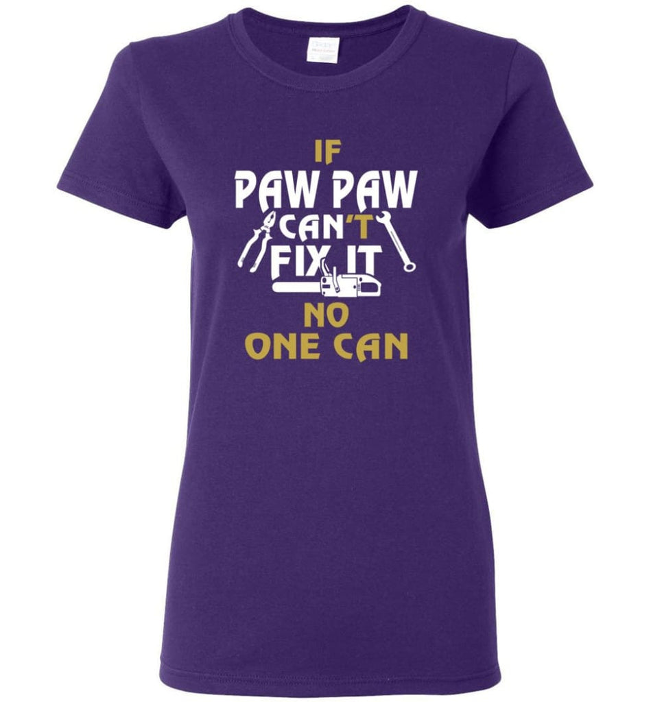 Mechanic Shirt I Love Paw Paw Best Gift For Father's Day Women Tee - Purple / M