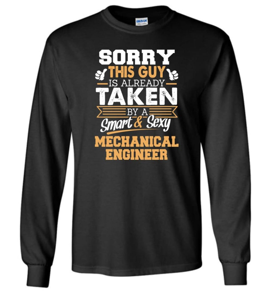 Mechanical Engineer Shirt Cool Gift for Boyfriend Husband or Lover - Long Sleeve T-Shirt - Black / M