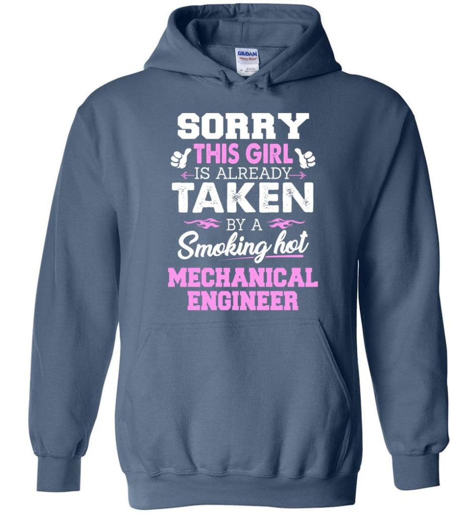 Mechanical Engineer Shirt Cool Gift For Girlfriend Wife Hoodie - Indigo Blue / M