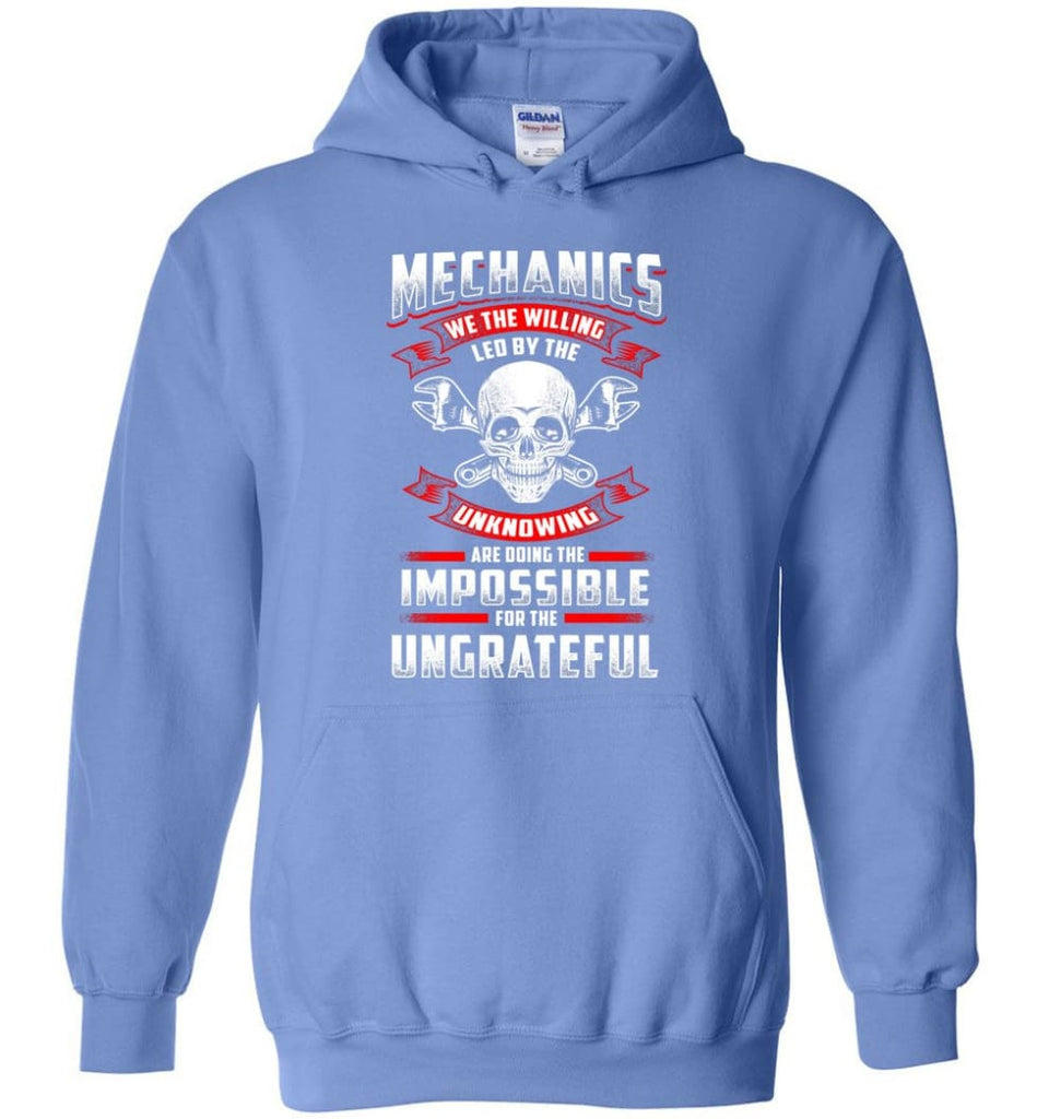 Mechanics We The Willing Leg By The Inknowing - Hoodie - Carolina Blue / M