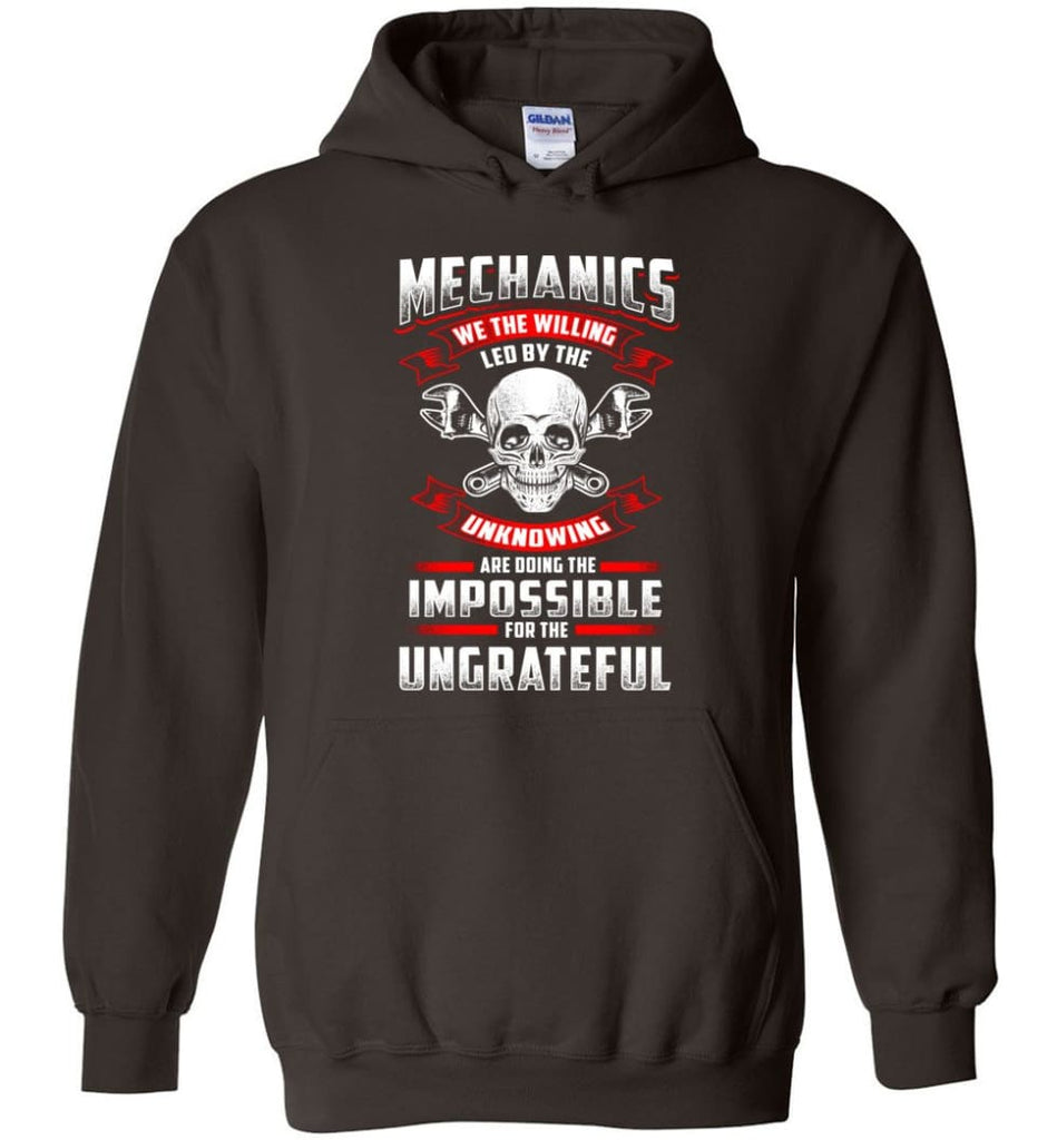 Mechanics We The Willing Leg By The Inknowing - Hoodie - Dark Chocolate / M