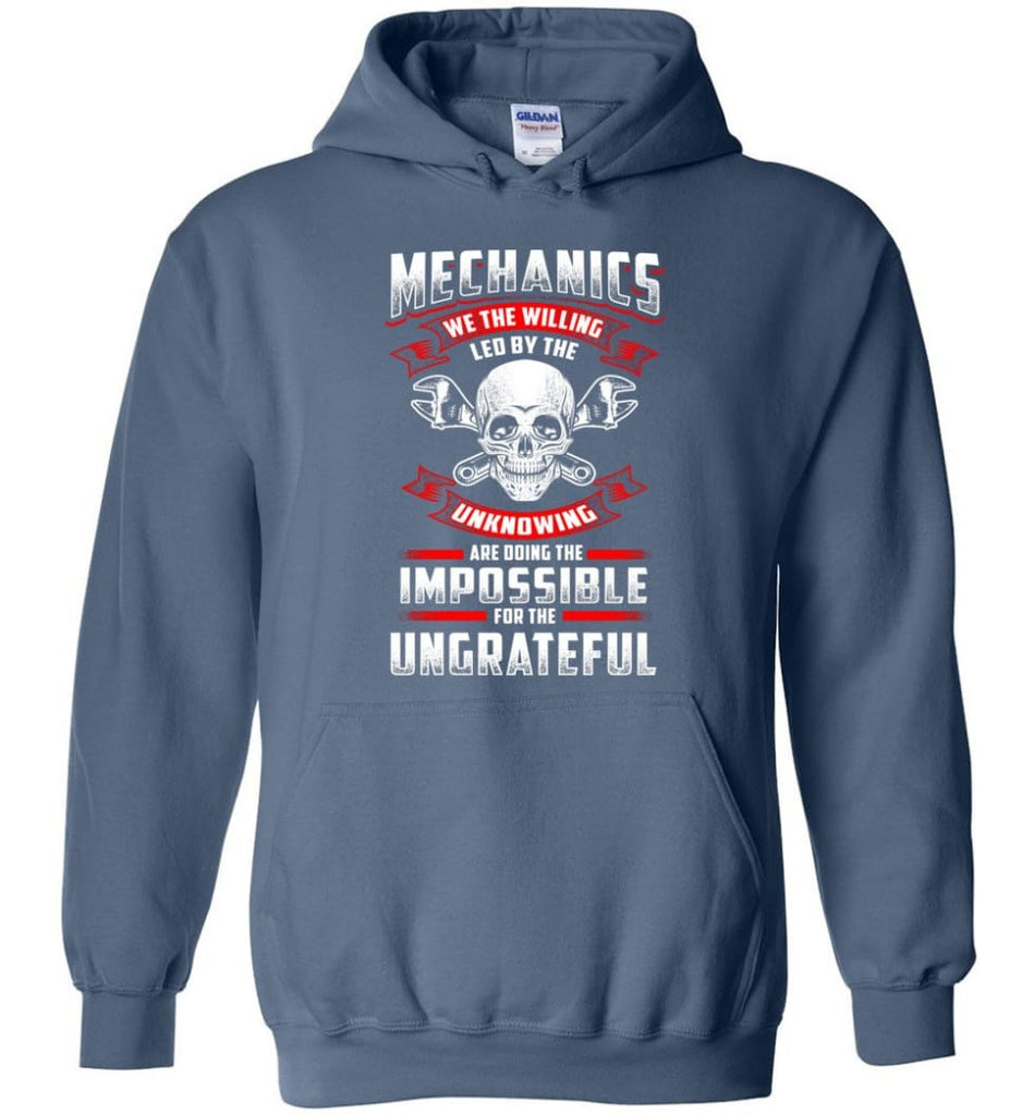 Mechanics We The Willing Leg By The Inknowing - Hoodie - Indigo Blue / M