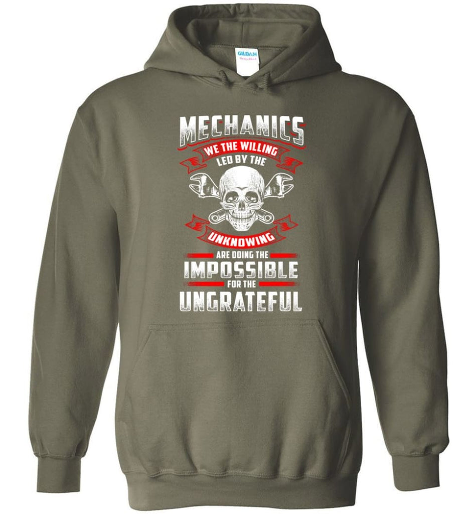 Mechanics We The Willing Leg By The Inknowing - Hoodie - Military Green / M