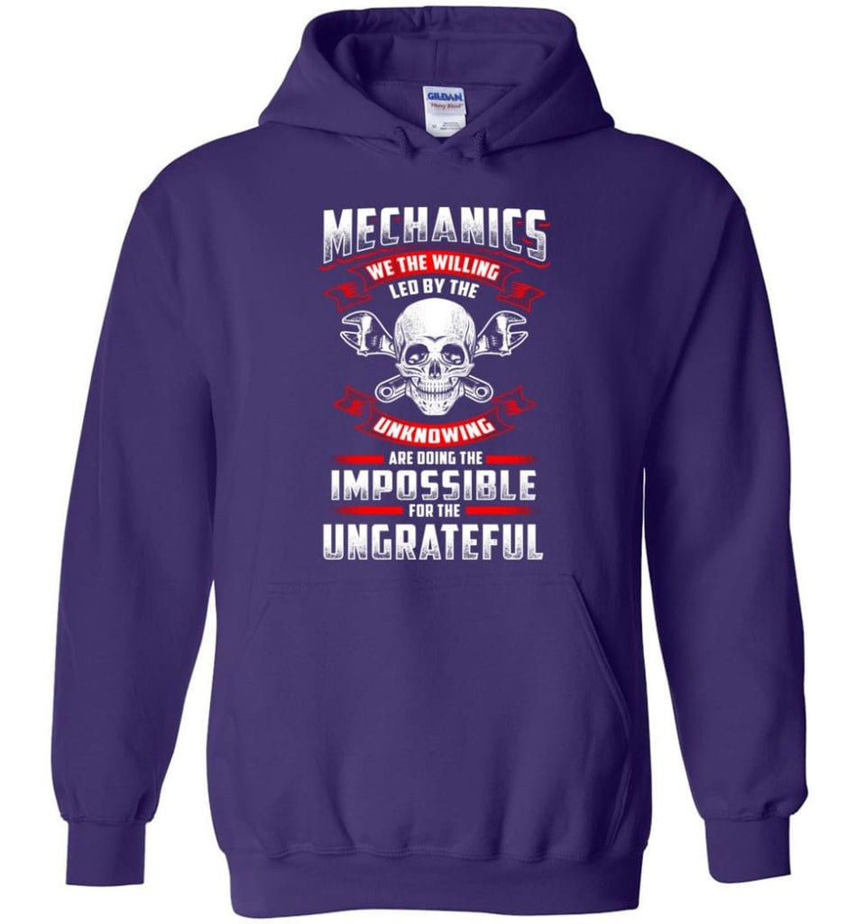 Mechanics We The Willing Leg By The Inknowing - Hoodie - Purple / M