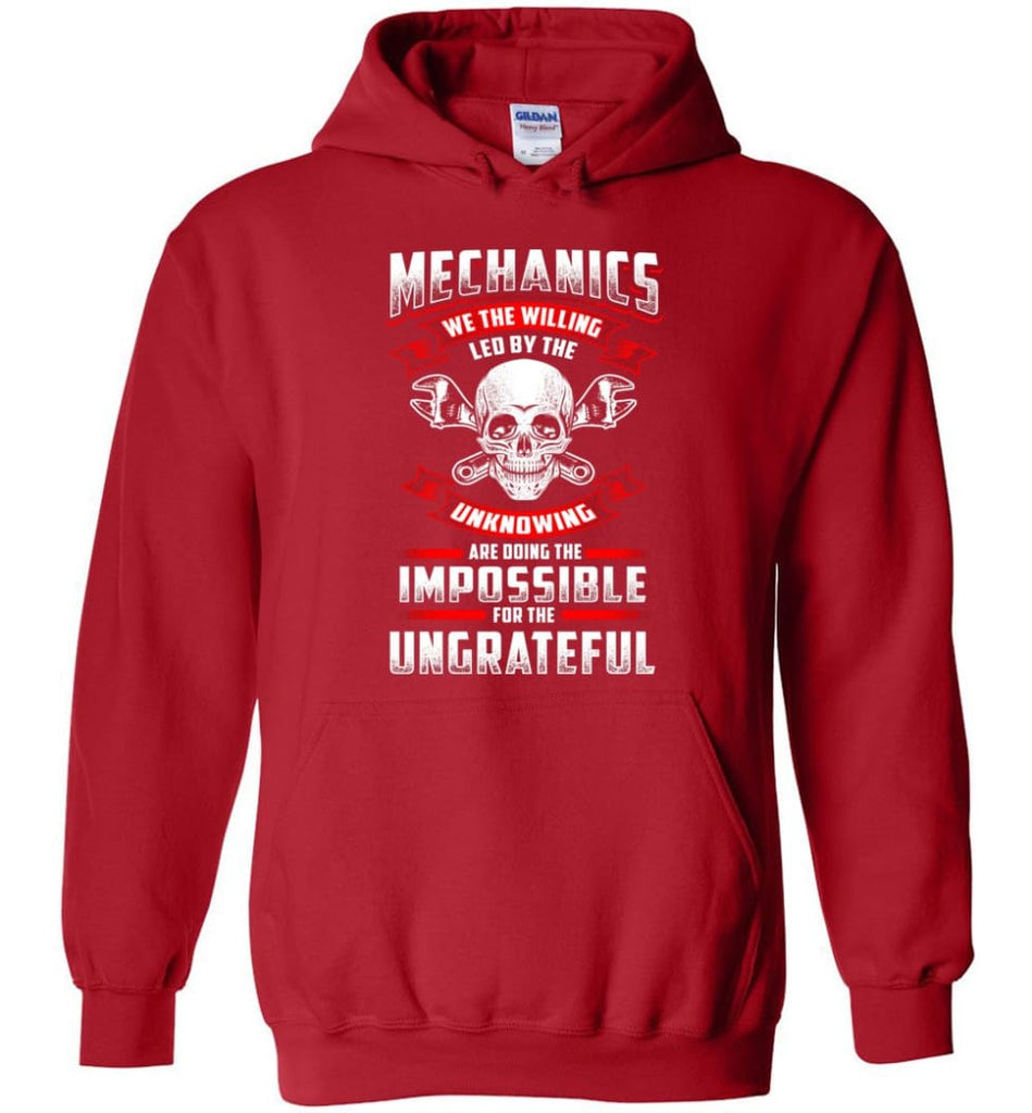 Mechanics We The Willing Leg By The Inknowing - Hoodie - Red / M