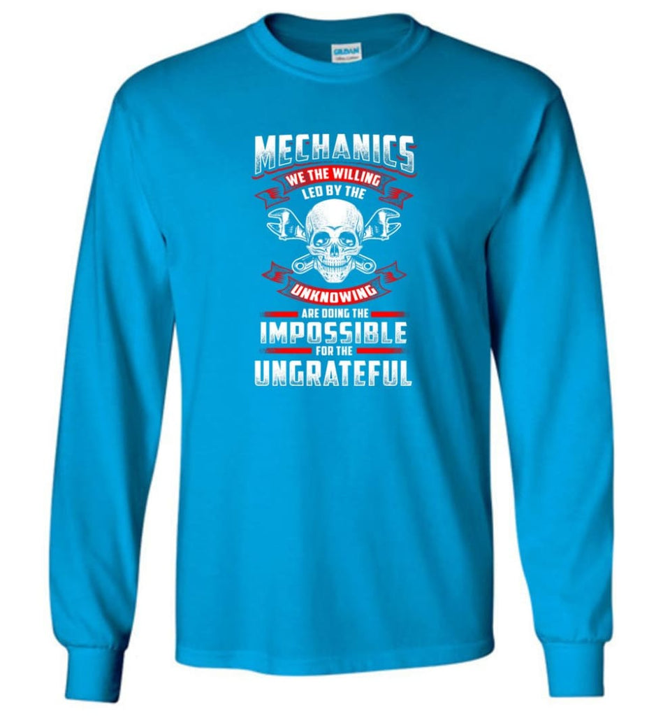 Mechanics We The Willing Leg By The Inknowing - Long Sleeve T-Shirt - Sapphire / M