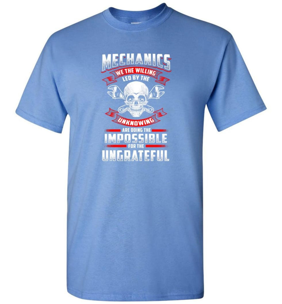 Mechanics We The Willing Leg By The Inknowing - Short Sleeve T-Shirt - Carolina Blue / S
