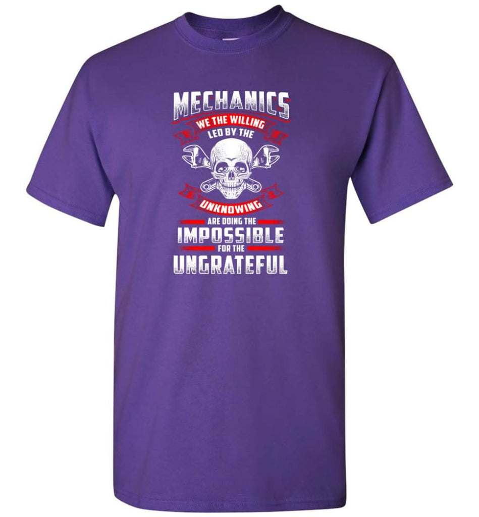 Mechanics We The Willing Leg By The Inknowing - Short Sleeve T-Shirt - Purple / S