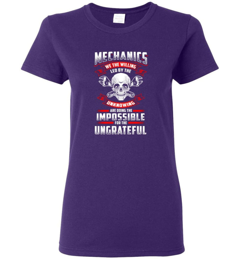 Mechanics We The Willing Leg By The Inknowing Women Tee - Purple / M