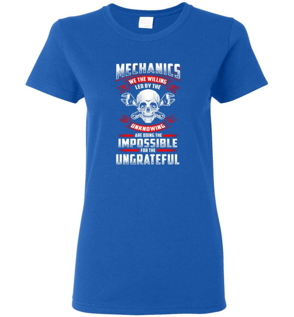 Mechanics We The Willing Leg By The Inknowing Women Tee - Royal / M
