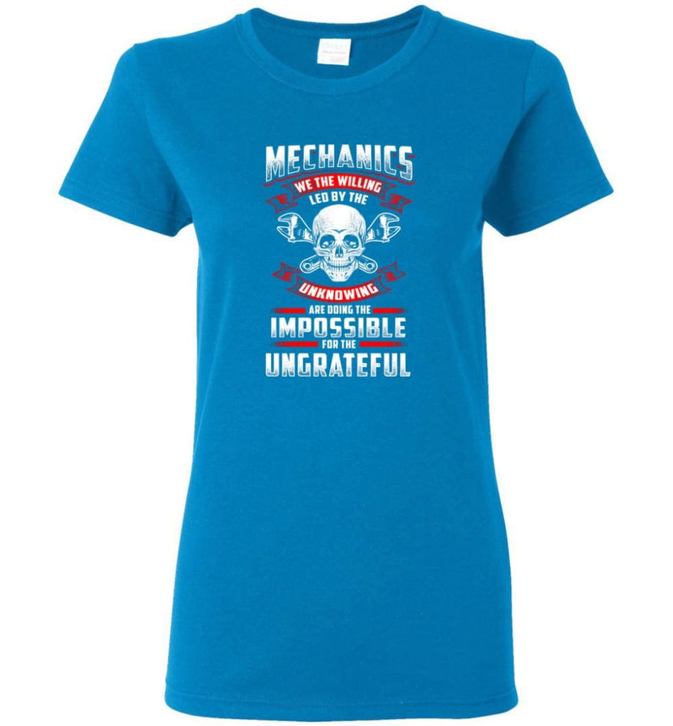 Mechanics We The Willing Leg By The Inknowing Women Tee - Sapphire / M