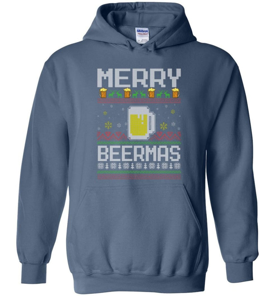 Merry Beermas Holiday Sweatshirt Merry Beermas Christmas Sweater for Men and Women Christmas Sweater Party Gifts -