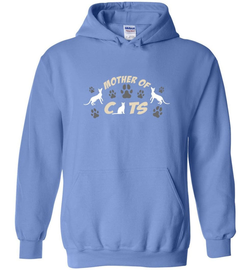 Mom Cat Lovers Gift Mother Of Cats - Hoodie - Carolina Blue / M