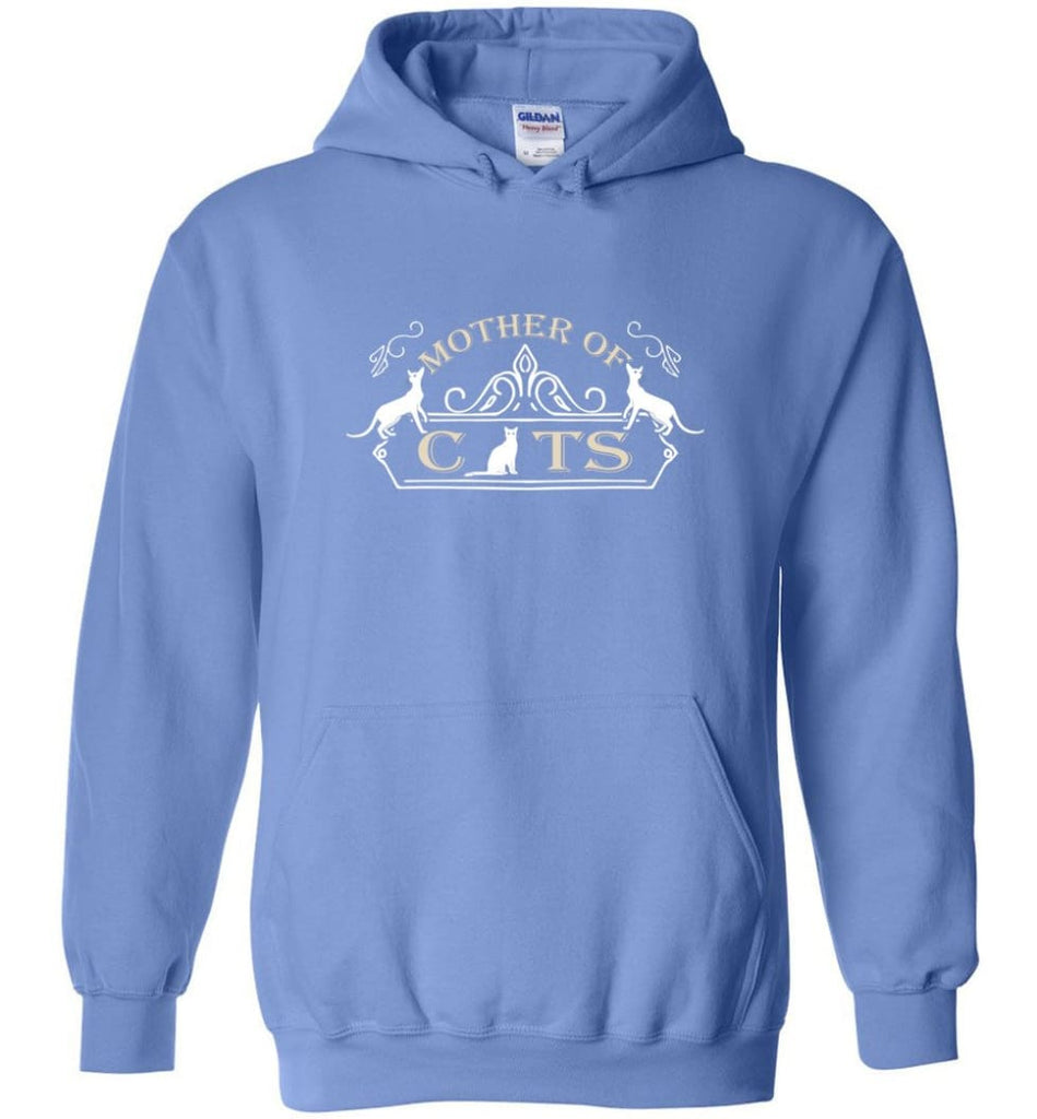 Mother Of Cats Gift for Cat Moms Cat Lovers - Hoodie - Carolina Blue / M