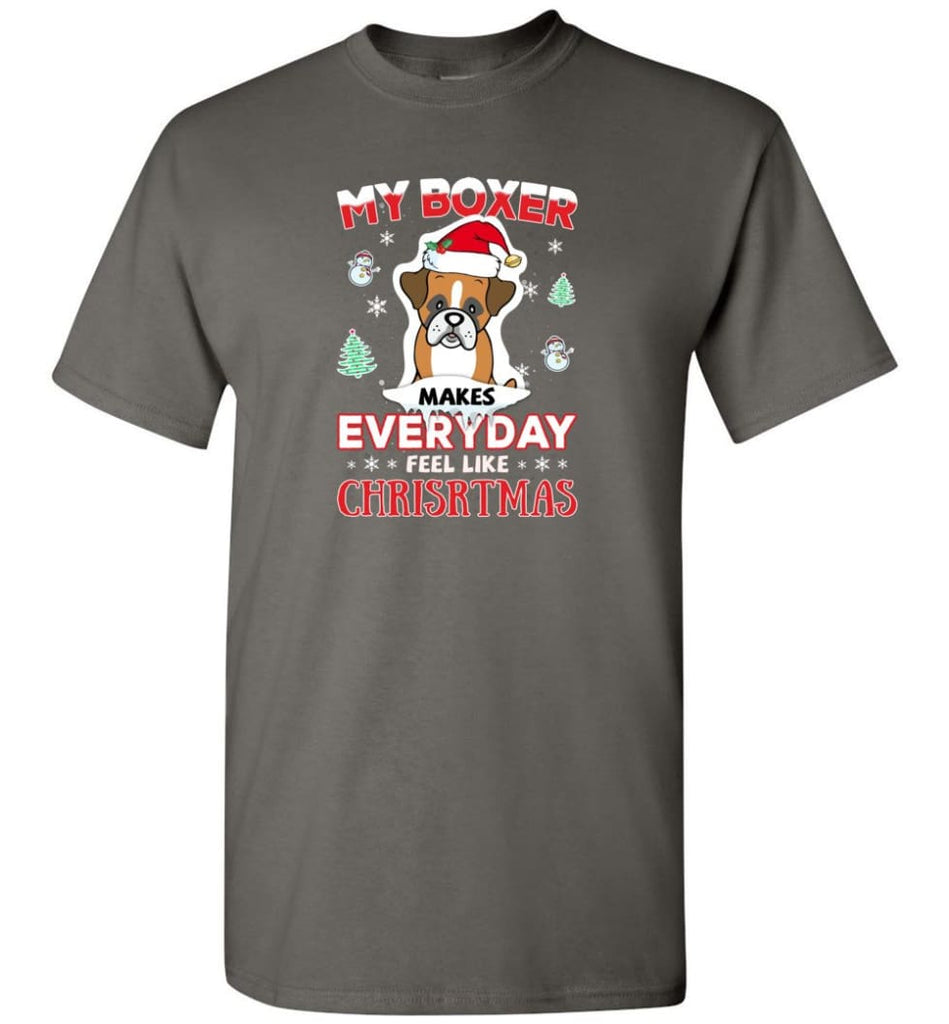 My Boxer Makes Everyday Feel Like Christmas Sweatshirt Hoodie Gift - T-Shirt - Charcoal / S
