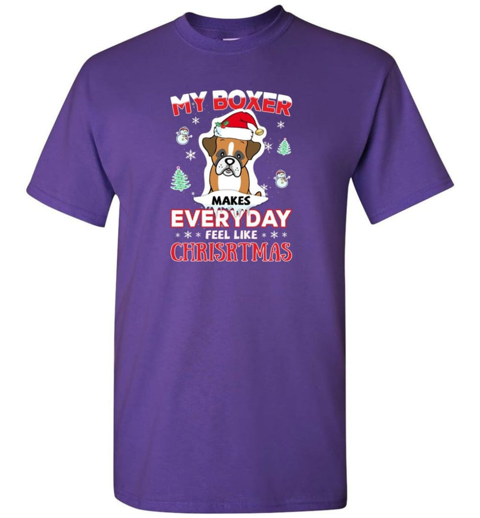 My Boxer Makes Everyday Feel Like Christmas Sweatshirt Hoodie Gift - T-Shirt - Purple / S