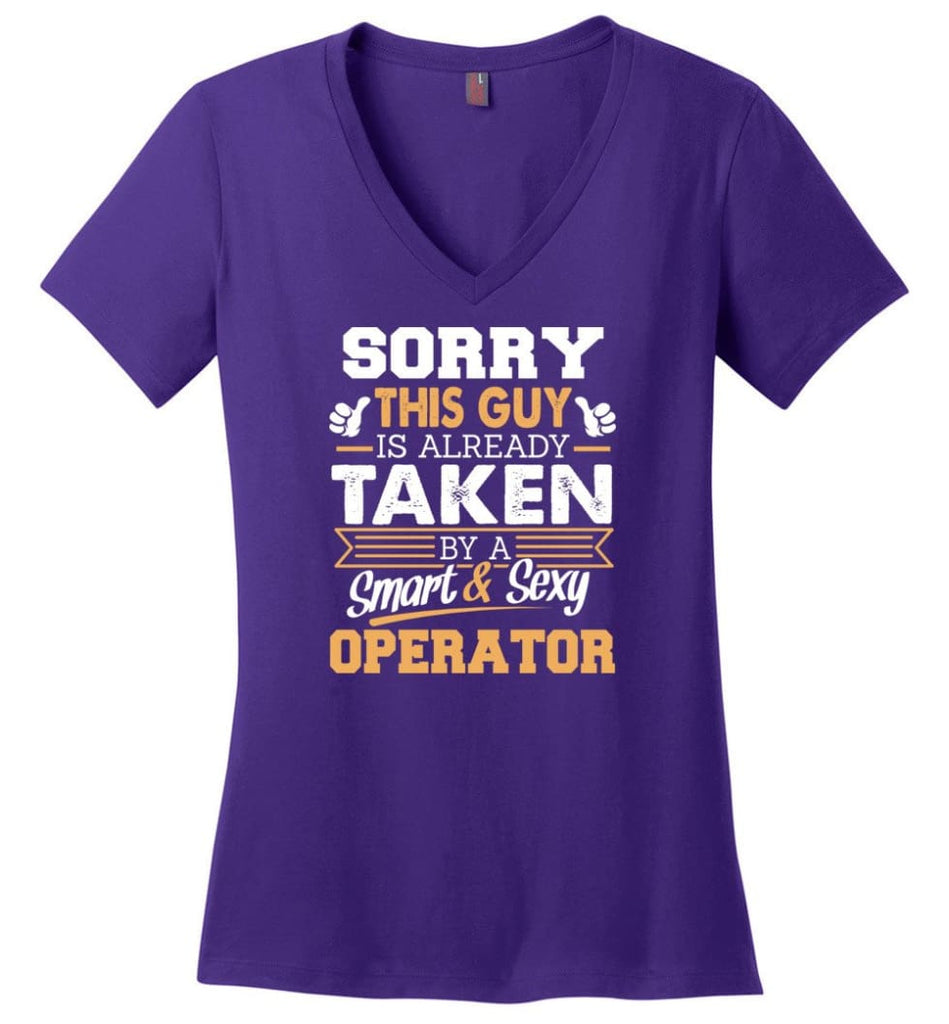 Navy Veteran Shirt Cool Gift for Boyfriend Husband or Lover Ladies V-Neck - Purple / M - 5