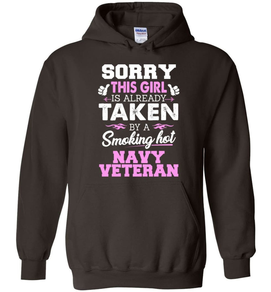 Navy Veteran Shirt Cool Gift for Girlfriend Wife or Lover - Hoodie - Dark Chocolate / M