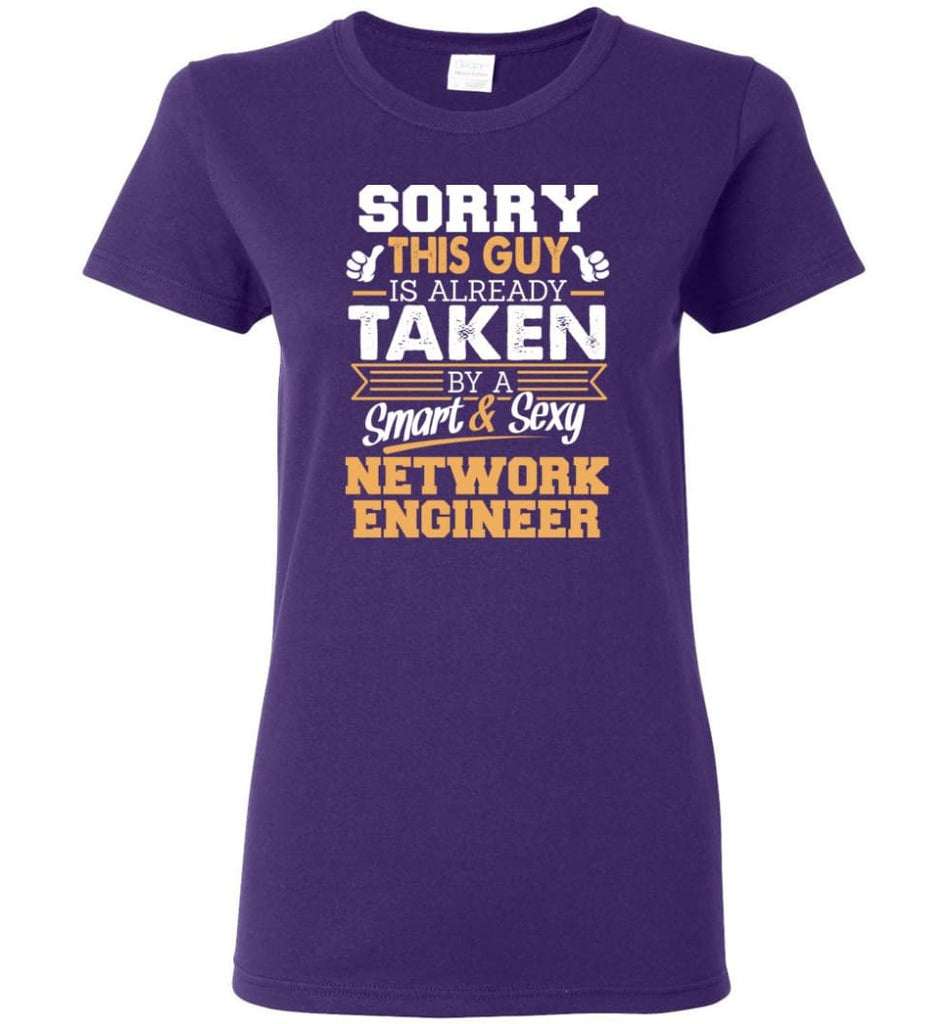 Network Engineer Shirt Cool Gift for Boyfriend Husband or Lover Women Tee - Purple / M - 8