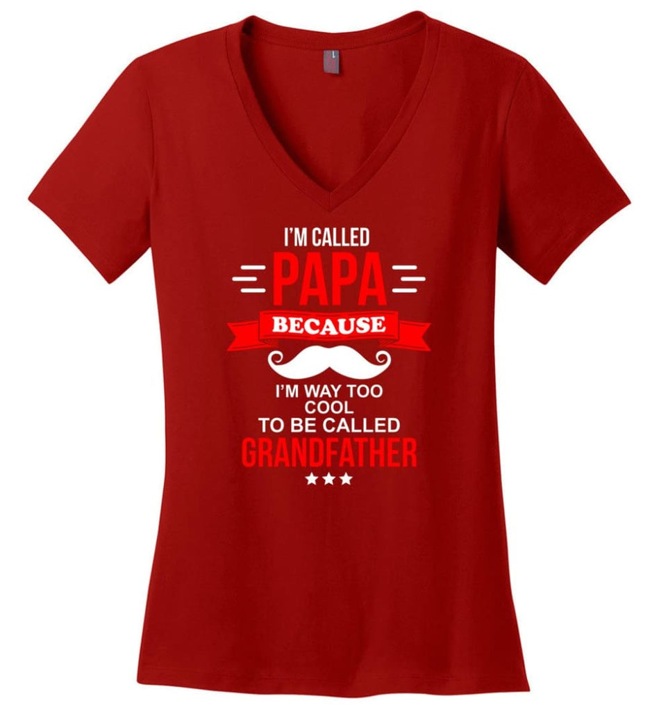 Never Underestimate The Powder Of A Biker Chick Shirt Ladies V-Neck - Red / M