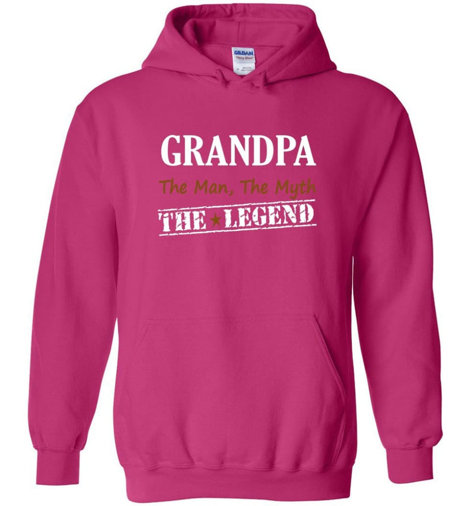New Legend Shirt Grandpa The Man The Myth The Legend Hoodie - Heliconia / M