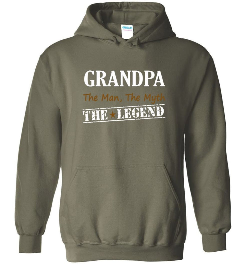 New Legend Shirt Grandpa The Man The Myth The Legend Hoodie - Military Green / M
