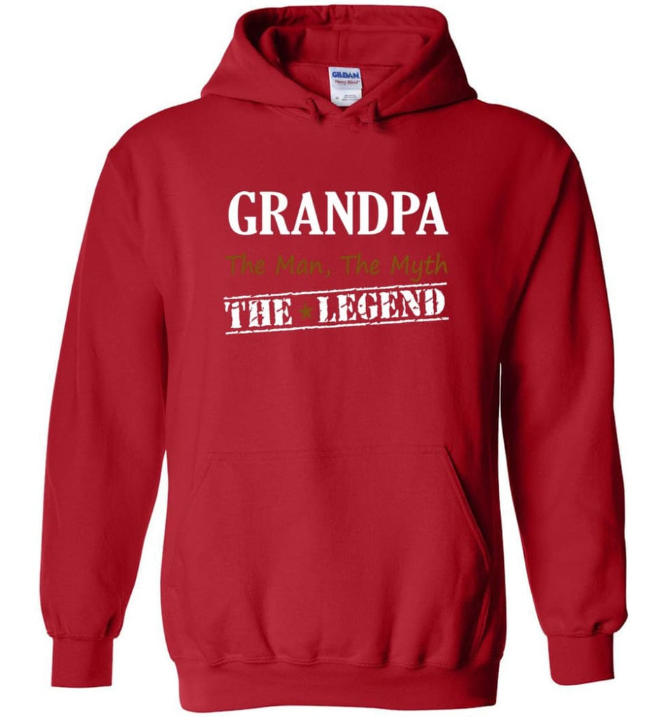 New Legend Shirt Grandpa The Man The Myth The Legend Hoodie - Red / M