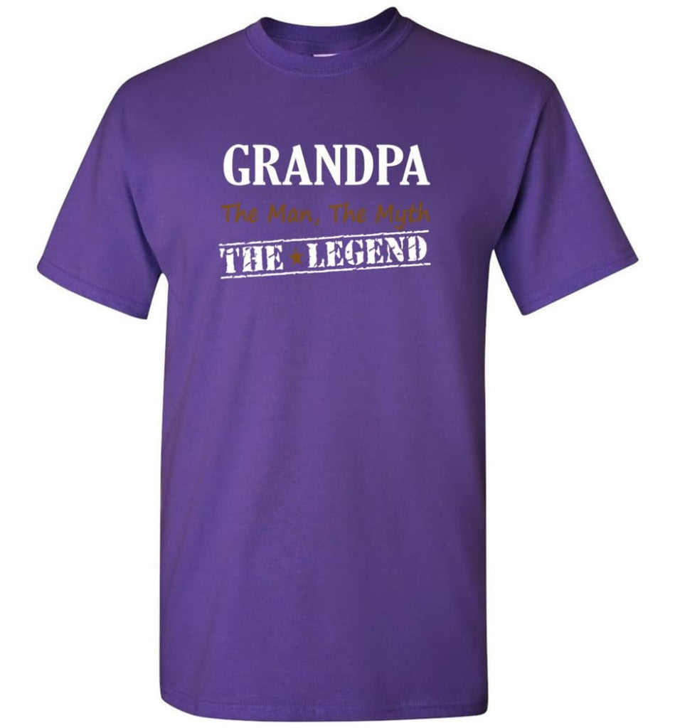 New Legend Shirt Grandpa The Man The Myth The Legend T-Shirt - Purple / S