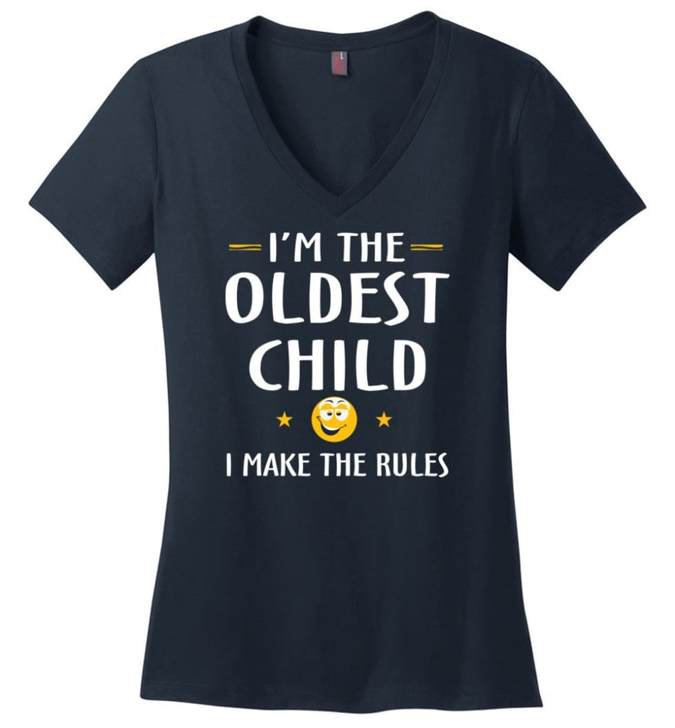 Oddest Child I Make The Rules Funny Oddest Child Ladies V-Neck - Navy / M