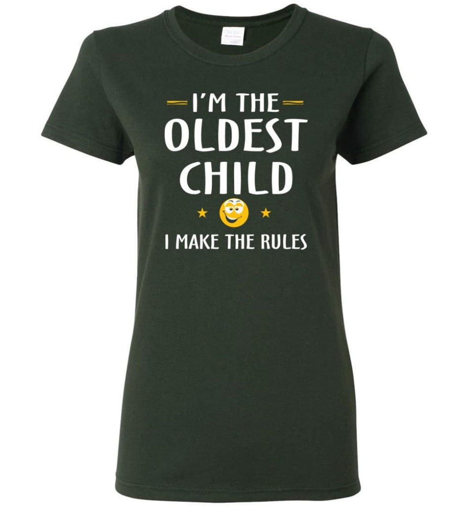 Oddest Child I Make The Rules Funny Oddest Child Women Tee - Forest Green / M