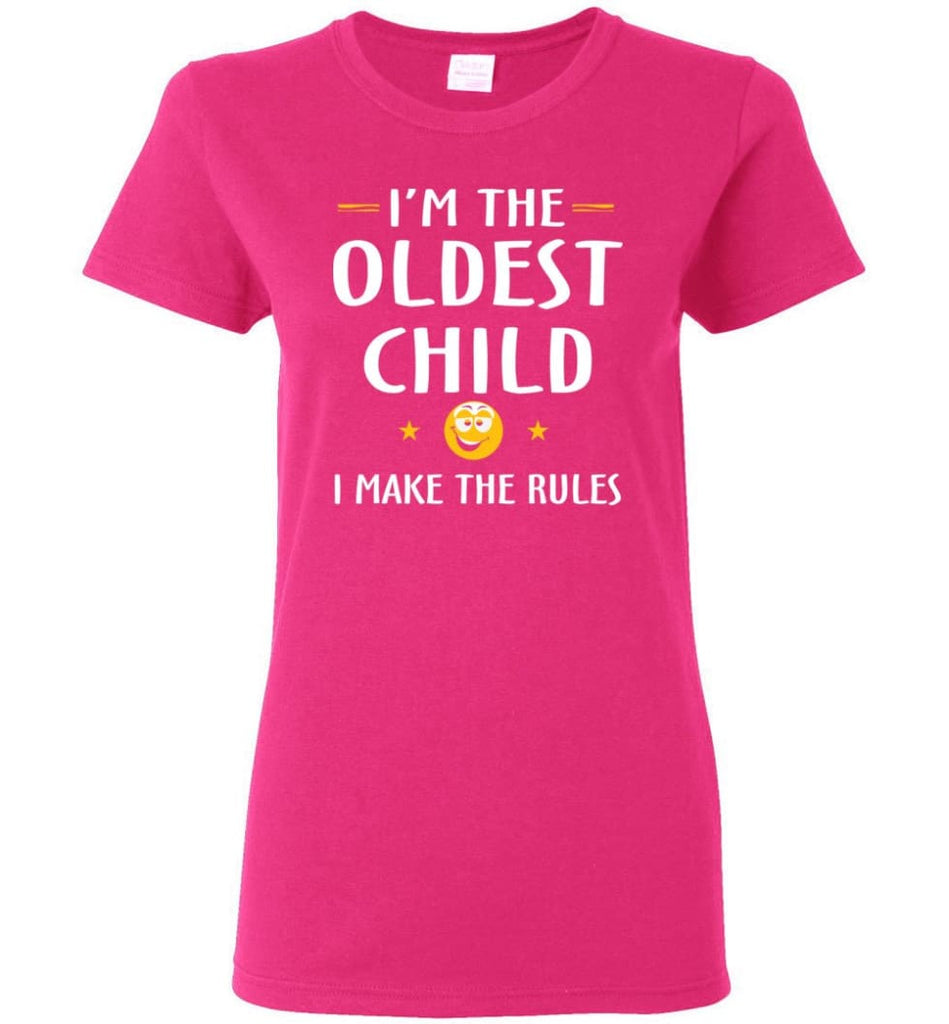 Oddest Child I Make The Rules Funny Oddest Child Women Tee - Heliconia / M