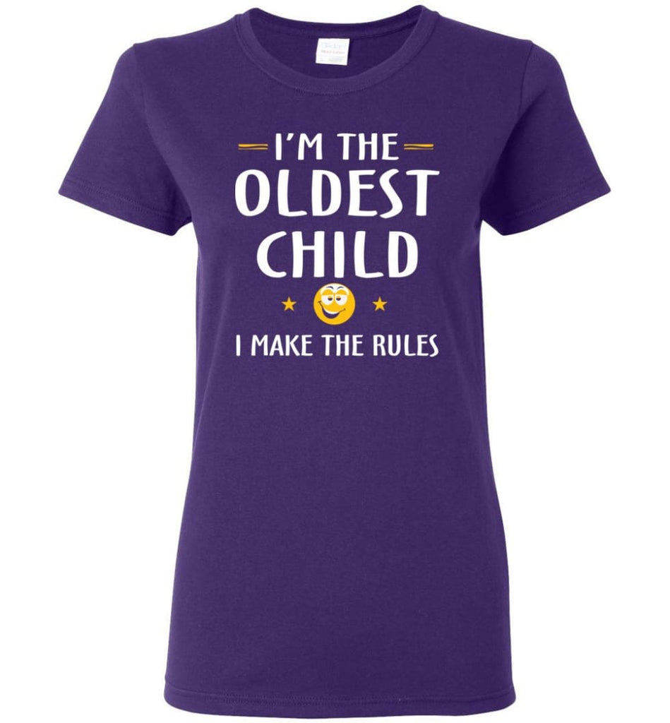 Oddest Child I Make The Rules Funny Oddest Child Women Tee - Purple / M