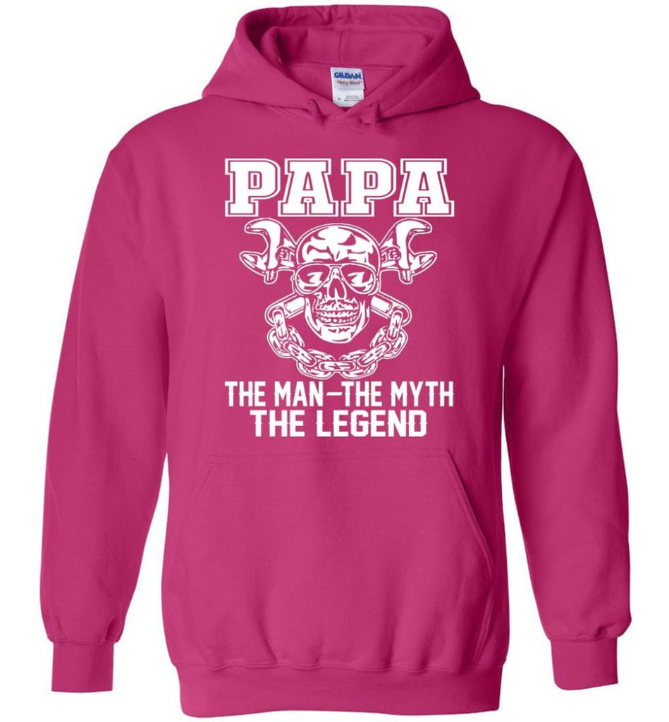 Papa Legend Shirt The Man The Myth The Legend - Hoodie - Heliconia / M